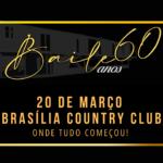 Brasília Country Club promove Baile dos anos 60 para celebrar 62 anos do clube, e 60 anos da capital